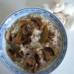 langkornreis-mit-gebratenen-champignons (Langkornreis mit gebratenen Champignons)