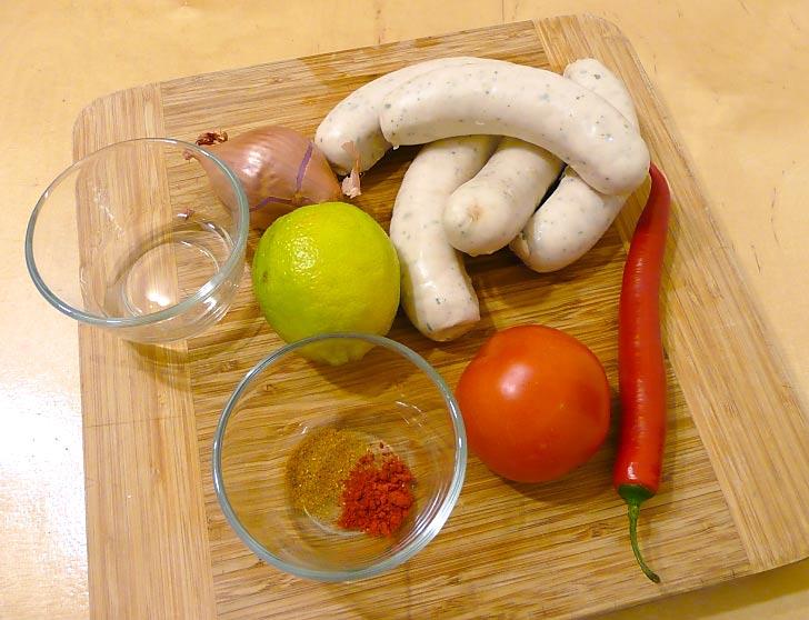 Weisswurst-mit-Rum-Salsa-zutaten