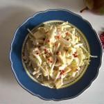 """Sellleriesalat mit Currysahne (Selleriesalat mit Currysahne und """"rosa Pfeffer"""")"""