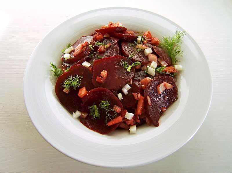 rote bete salat mit apfel und fenchel mundgericht. Black Bedroom Furniture Sets. Home Design Ideas
