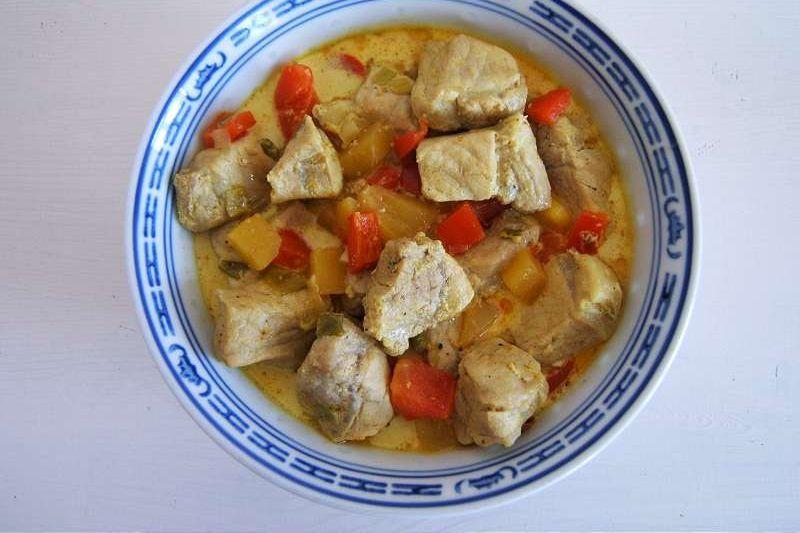 Mangocurry mit Schweinefleisch