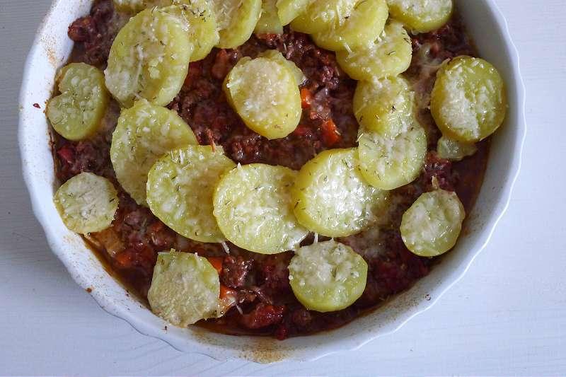 Kartoffelgratin Bolognese