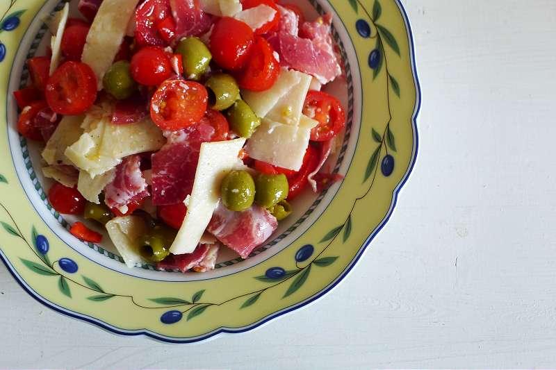 Italienischer Schinkensalat mit Pecorino