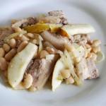 Weiße Bohnen mit Birnen und gebratenem Schweinebauch_ji-W800 (Weiße Bohnen mit Birnen und gebratenem Schweinebauch)